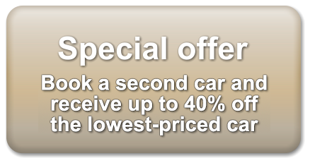 Special offer  Book a second car and receive 20% off
